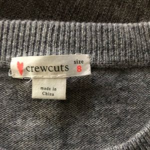 Girls crew cuts sweater. Like new size 8